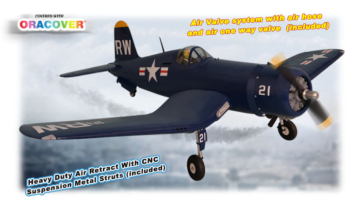 "Phoenix Model F4U Corsair 50-61CC Gas/EP ARF 85"" - 1:5 1/2"