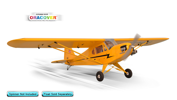 "Phoenix Model Piper J3 Cub GP/EP 20cc Gas/EP ARF 90"" - 1:4 3/4"