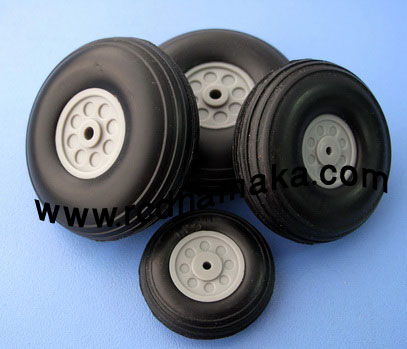 Rubber PU Wheel 3""